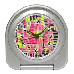 Abstract Pattern Travel Alarm Clocks by Simbadda