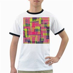 Abstract Pattern Ringer T Shirts