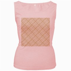 Background Pattern Women s Pink Tank Top