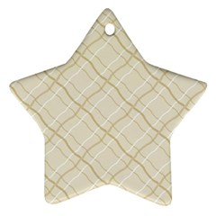 Background Pattern Star Ornament (two Sides)