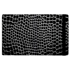 Black White Crocodile Background Apple Ipad 2 Flip Case by Simbadda
