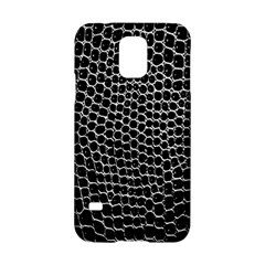 Black White Crocodile Background Samsung Galaxy S5 Hardshell Case