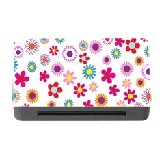 Colorful Floral Flowers Pattern Memory Card Reader With Cf by Simbadda