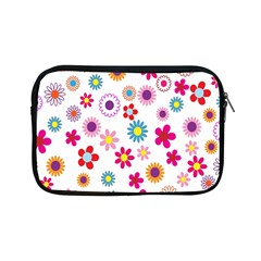 Colorful Floral Flowers Pattern Apple Ipad Mini Zipper Cases by Simbadda