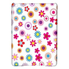 Colorful Floral Flowers Pattern Ipad Air Hardshell Cases by Simbadda