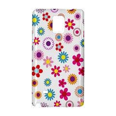 Colorful Floral Flowers Pattern Samsung Galaxy Note 4 Hardshell Case by Simbadda