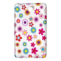 Colorful Floral Flowers Pattern Samsung Galaxy Tab 4 (7 ) Hardshell Case  by Simbadda