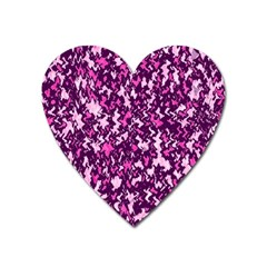 Chic Camouflage Colorful Background Heart Magnet by Simbadda