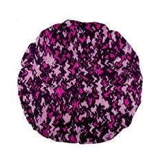 Chic Camouflage Colorful Background Standard 15  Premium Round Cushions