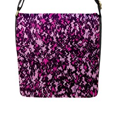 Chic Camouflage Colorful Background Flap Messenger Bag (l)  by Simbadda