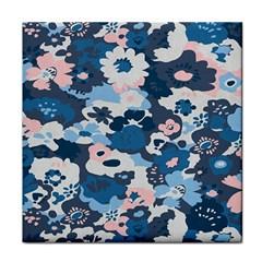 Fabric Wildflower Bluebird Tile Coasters by Simbadda