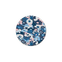 Fabric Wildflower Bluebird Golf Ball Marker by Simbadda