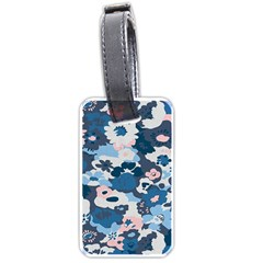 Fabric Wildflower Bluebird Luggage Tags (one Side)  by Simbadda