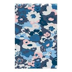 Fabric Wildflower Bluebird Shower Curtain 48  X 72  (small)  by Simbadda
