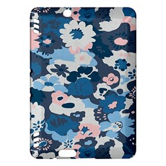 Fabric Wildflower Bluebird Kindle Fire Hdx Hardshell Case by Simbadda