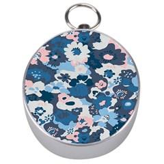 Fabric Wildflower Bluebird Silver Compasses by Simbadda