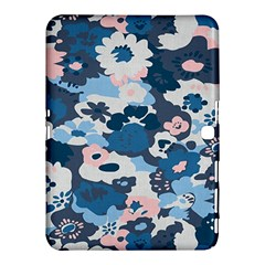 Fabric Wildflower Bluebird Samsung Galaxy Tab 4 (10 1 ) Hardshell Case  by Simbadda