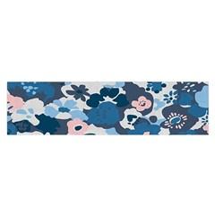 Fabric Wildflower Bluebird Satin Scarf (oblong) by Simbadda