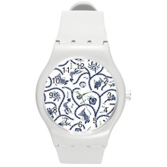 Fish Pattern Round Plastic Sport Watch (m) by Simbadda