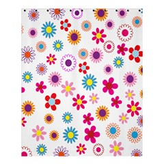 Colorful Floral Flowers Pattern Shower Curtain 60  X 72  (medium)  by Simbadda