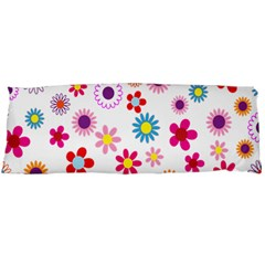 Colorful Floral Flowers Pattern Body Pillow Case Dakimakura (two Sides) by Simbadda