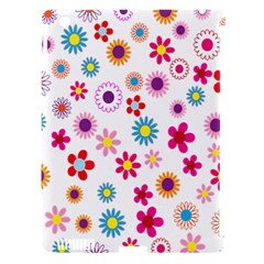 Colorful Floral Flowers Pattern Apple Ipad 3/4 Hardshell Case (compatible With Smart Cover)