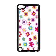 Colorful Floral Flowers Pattern Apple Ipod Touch 5 Case (black)