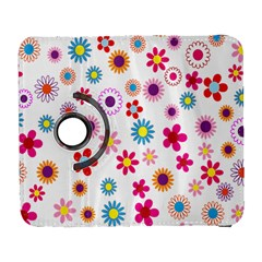 Colorful Floral Flowers Pattern Galaxy S3 (flip/folio)