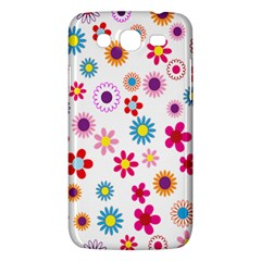 Colorful Floral Flowers Pattern Samsung Galaxy Mega 5 8 I9152 Hardshell Case