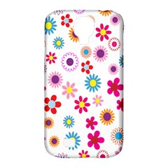 Colorful Floral Flowers Pattern Samsung Galaxy S4 Classic Hardshell Case (pc+silicone)