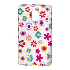 Colorful Floral Flowers Pattern Galaxy Note Edge by Simbadda
