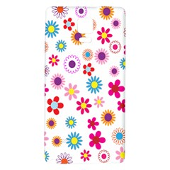 Colorful Floral Flowers Pattern Galaxy Note 4 Back Case