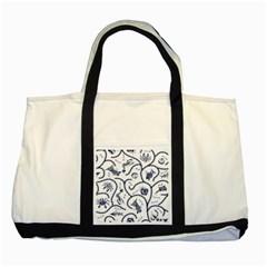 Fish Pattern Two Tone Tote Bag by Simbadda