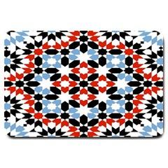 Morrocan Fez Pattern Arabic Geometrical Large Doormat  by Simbadda