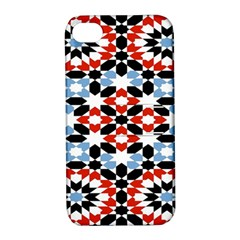 Morrocan Fez Pattern Arabic Geometrical Apple Iphone 4/4s Hardshell Case With Stand