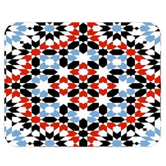 Morrocan Fez Pattern Arabic Geometrical Double Sided Flano Blanket (medium)  by Simbadda