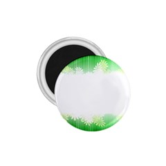 Green Floral Stripe Background 1 75  Magnets by Simbadda