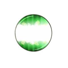 Green Floral Stripe Background Hat Clip Ball Marker (10 Pack)