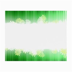 Green Floral Stripe Background Small Glasses Cloth
