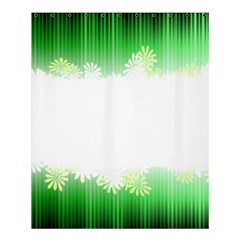 Green Floral Stripe Background Shower Curtain 60  X 72  (medium)  by Simbadda