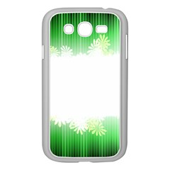 Green Floral Stripe Background Samsung Galaxy Grand Duos I9082 Case (white)