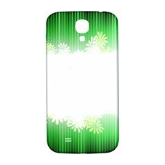 Green Floral Stripe Background Samsung Galaxy S4 I9500/i9505  Hardshell Back Case
