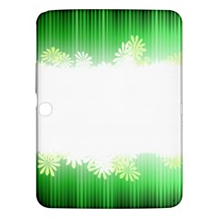 Green Floral Stripe Background Samsung Galaxy Tab 3 (10 1 ) P5200 Hardshell Case  by Simbadda