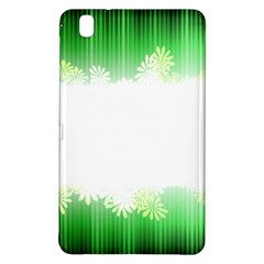 Green Floral Stripe Background Samsung Galaxy Tab Pro 8 4 Hardshell Case