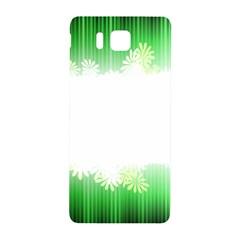 Green Floral Stripe Background Samsung Galaxy Alpha Hardshell Back Case by Simbadda