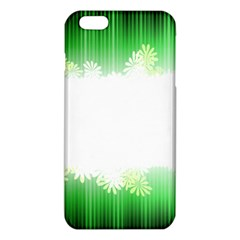 Green Floral Stripe Background Iphone 6 Plus/6s Plus Tpu Case by Simbadda