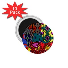 Patchwork Collage 1 75  Magnets (10 Pack)