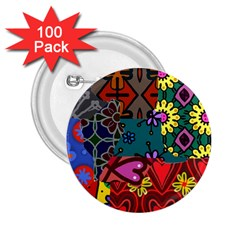 Patchwork Collage 2 25  Buttons (100 Pack)