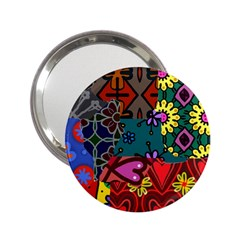 Patchwork Collage 2 25  Handbag Mirrors