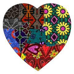 Patchwork Collage Jigsaw Puzzle (Heart)